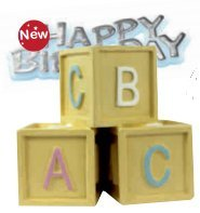 Anniversaire les blocs de bébé pour gâteaux
