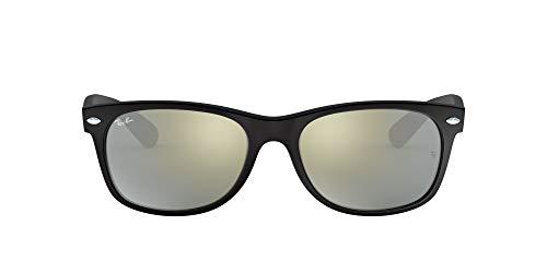 Ray-Ban New Wayfarer 622/30 Gafas de sol, Rubber Black, 55 para Hombre