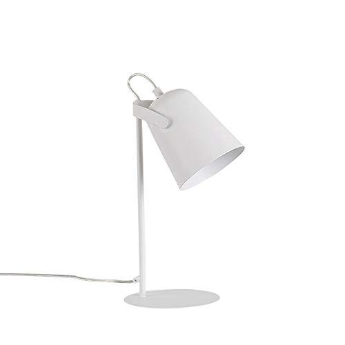 Raxinbang Lámparas de Mesa Blanco Negro Rosa Green Green, Modern Minimalist Table Lámpara de Mesa Luz de Noche 5W Power LED Botón de luz Interruptor (Color : White)