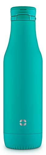 Ello Riley Vacuum Insulated Stainless Steel Water Bottle with Removable Base, 18 oz, Mint