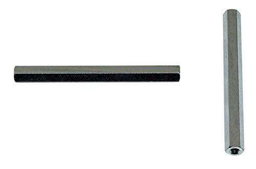 SN-TEC Distanzmutter/Langmutter/Distanzbolzen 6-kant M8 x 70mm verzinkt (10 Stück)