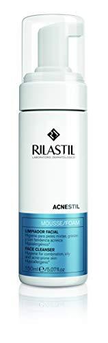 Rilastil Acnestil - Mousse Limpiador Facial para Pieles Mixtas y Grasas con Tendencia Acneica - 150 ml