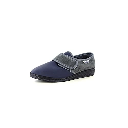 EMANUELA Pantofola Elasticizzata Invernale Donna 601 Nero Made in Italy (35 EU)