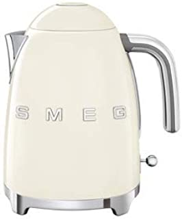 Smeg KLF03CRUS 50's Retro Style Aesthetic Electric Kettle with Embossed Logo, Cream