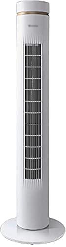 Qjkmgd Ventilador de la Cabeza de la Cabeza sin Hojas Dormitorio silencioso Ventilador Vertical Control Remoto doméstico, Tiempo 7H (Color: Blanco, Tamaño: 30 * 30 * 106cm)