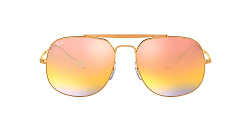 Ray-Ban 0RB3561, Gafas de Sol para Hombre, Marrón (Pink Gradient Mirror), 57