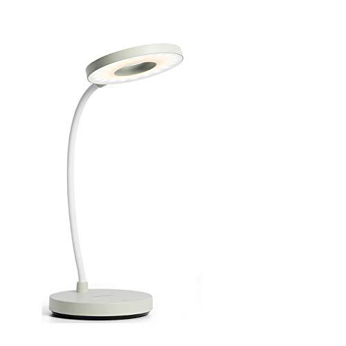Lámpara de escritorio LED de 5 W,recargable,ahorro de energía,libro de lectura,cuidado de los ojos,3 modos de color,regulable,360 °,flexible,cuello de cisne,mesita de noche,dormitorio,oficina,estudio.