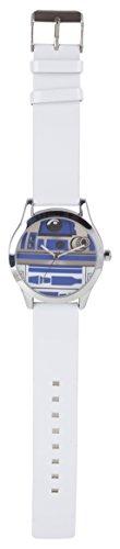 Star Wars STAR296 - Reloj de Cuarzo, para niño, con Correa de Poli Piel, Color Blanco