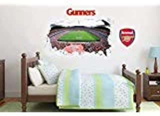 Official Arsenal Football Club - Smashed Emirates Stadium Mural + Wall Sticker Set Decal Vinyl Poster Print Mural (180cm Width x 90cm Height)