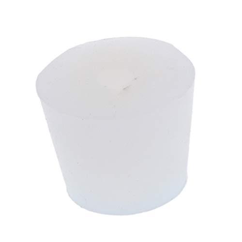 21-25mm Almencla 5pcs Laboratory Silicone Bung Stopper Plug Scientific Tube Flask Stopper White