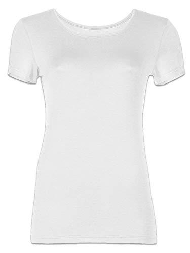 Pompadour Damen Shirt 1/4 Arm, Micromodal Markenunterwäsche (3er Pack) (38, weiß)