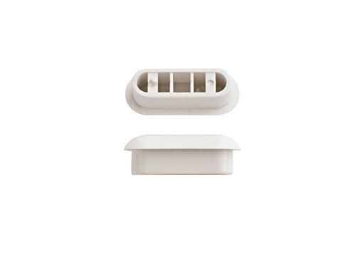 SITZPLATZ® WC-Sitz-Puffer Nr. 25, Auflagestopfen für Toilettensitz, Abstandhalter für WC-Brille, Weiß, Kunststoff