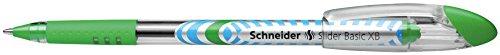 Schneider Slider Basic XB Ballpoint Pen, Light Green, Box of 10 Pens (151211) Photo #6