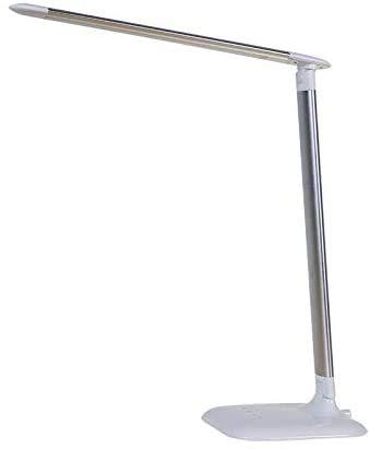 Luces de la Noche Mesa Plegable lámpara de Mesa llevó la lámpara de inducción de luz Creativa Estudiantes Leer un LED lámpara de Mesa Cielo Azul, Negro Piano qiuliyin (Color : Space Silver)