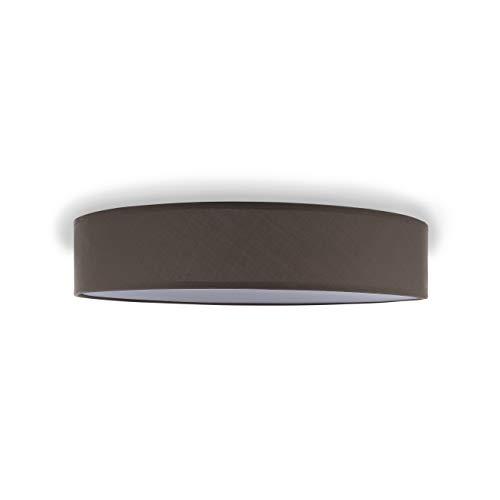 Smartwares IDE-60045 Deckenleuchte/ Textilschirm, 50 cm Ø, 4 x E27, Braun