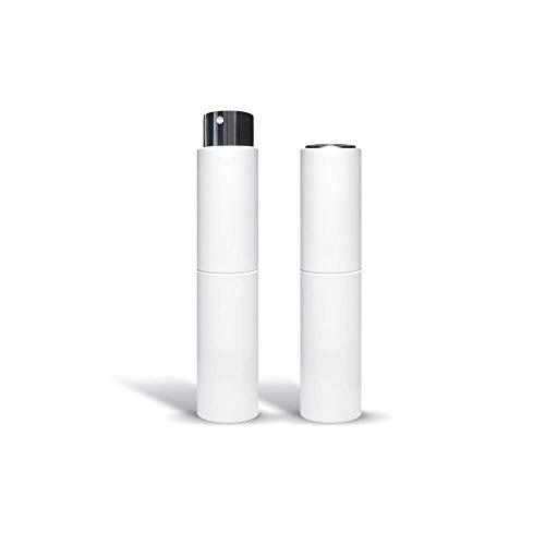 Nanolab® 10 | Reise Parfüm Zerstäuber Twist Up Sprühflaschen | matt weiß | leere Flasche | 10ml