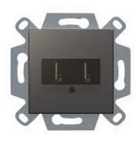 Cargador doble USB 2100 ma gris lava serie VIVA BJC 23579-GL