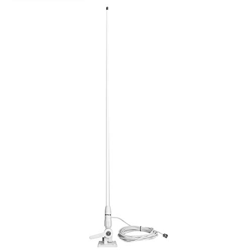 Retevis MA06 VHF Marine Antenna, Gain Fiberglass Antenna with Coaxial Feeder 7 Meters for Ratchet Mount,Yacht, Truck, RV, Cruise Ship,Kayaking (1 Pack)