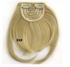 WIG MINE Deux long plus faux pièce de perruque frange fringeclip en extension de cheveux haute frange de cheveux de simulation, 22#