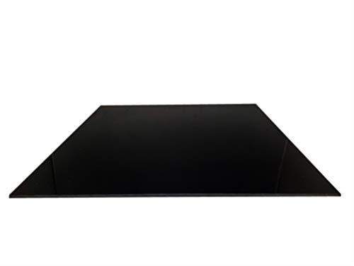 3mm PLEXIGLAS® Acrylglas Schwarz POLIERTE Kanten Zuschnitt 600x200x3mm