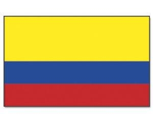 Colombie-outdoor münchen drapeau 90 x 150 cm