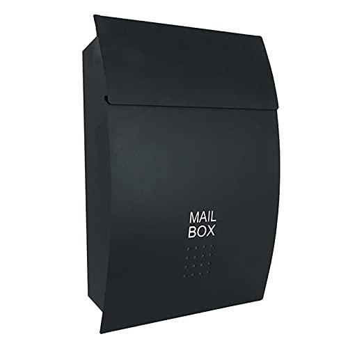 ZXN RTU Security Buzones de acero inoxidable duradero con cerradura de llave resistente, buzón impermeable montado en la pared para periódicos al aire libre, caja de periódicos impermeable