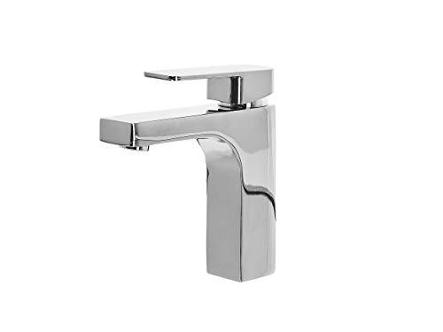 Irupu - Grifo monomando para lavabo (cromado), color plateado