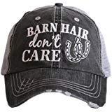 KATYDID Barn Hair Don't Care Baseball Cap - Trucker Hat for Women - Stylish Cute Sun Hat (Grey/Silver)