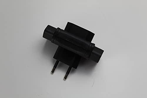 Adaptador de 3 tomas color negro 10A 250V MAX 2300W.