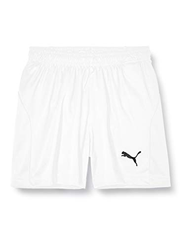 PUMA Kinder LIGA Core Shorts, White Black, 152