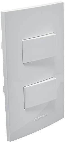 Conjunto 1 Interruptor Simples e 1 Interruptor paralelo, Alumbra, Inova 5438, Branco