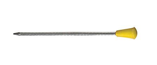 Comair 3150046 Metallstecker mit Plastikkopf, 50 stück Beutel, 65 mm, gelb