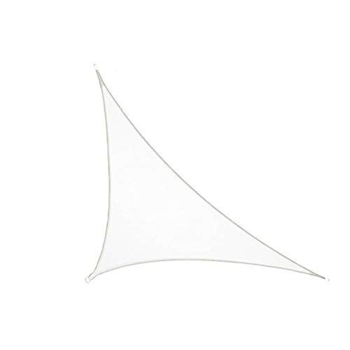 Sun Shade Sail Triangle Canopy, 185GSM Fabric Permeable Pergolas Top Cover, for Outdoor Patio Lawn Garden Backyard Awning,White,4X4X5.7m