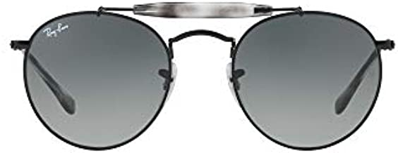 Ray-Ban RB3747 Round Metal Sunglasses, Black Havana/Grey Gradient, 50 mm