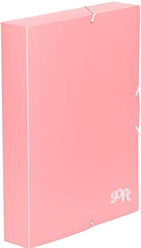 Carchivo - Carpeta archivador de proyectos con lomo de 5cm, serie Soft, color rosa pastel