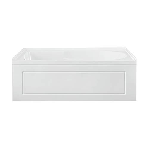 Swiss Madison Well Made Forever SM-AB561, Concorde 60 in. x 32 in. Acrylic Glossy White, Alcove, Integral, Left-Hand Drain, Apron Bathtub