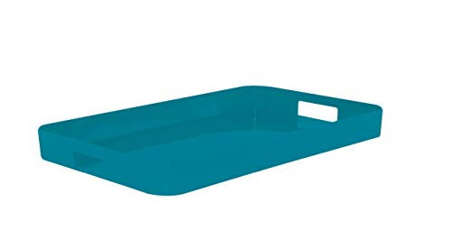 Zak Designs Gallery Tablett Aqua Blau, 33 x 26 cm