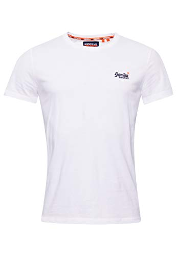 Superdry Orange Label Vintage EMB tee Camiseta Manga Corta, Blanco (Optic White...