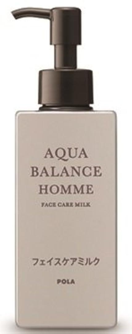 比較的伝えるのヒープAQUA POLA アクアバランス オム(AQUA BALANCE HOMME) フェイスケアミルク 乳液 シェービングの肌を保護 1L 業務用サイズ 詰替え 200mlボトルx1本
