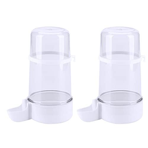 Yyshyi 2 Pieza Comedero Pájaros Automático, Alimentador de Pájaros Automático, Dispensador Agua Periquitos para Periquitos, Cacatúas, Volumen 400 ml