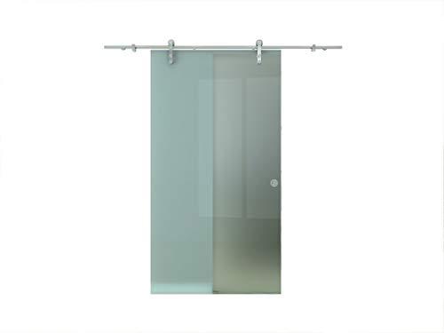 Glas-Schiebetür Glasschiebetür Ganzglasschiebetür Glastür Glas Tür Milchglas Satiniert 775 x 2050