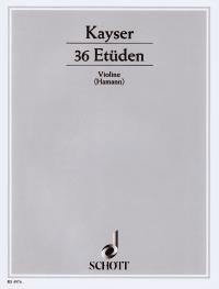 36 ETUEDEN OP 20 - arrangiert für Violine [Noten / Sheetmusic] Komponist: KAYSER HEINRICH ERNST