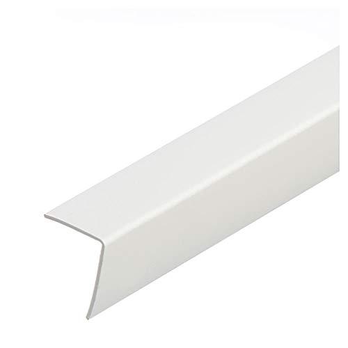 PVC Winkel Weiß 1 Meter Winkelprofile Kunststoffleiste Eckschutzleiste