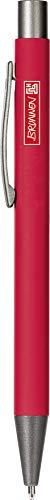 Brunnen 102911323 Kugelschreiber, Länge: 14 cm, Red, gummiert, Stripe, Colour Code