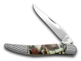 Schatt and Morgan Deer Stag and White Pearl 1/50 Toothpick Pocket Knife Knives