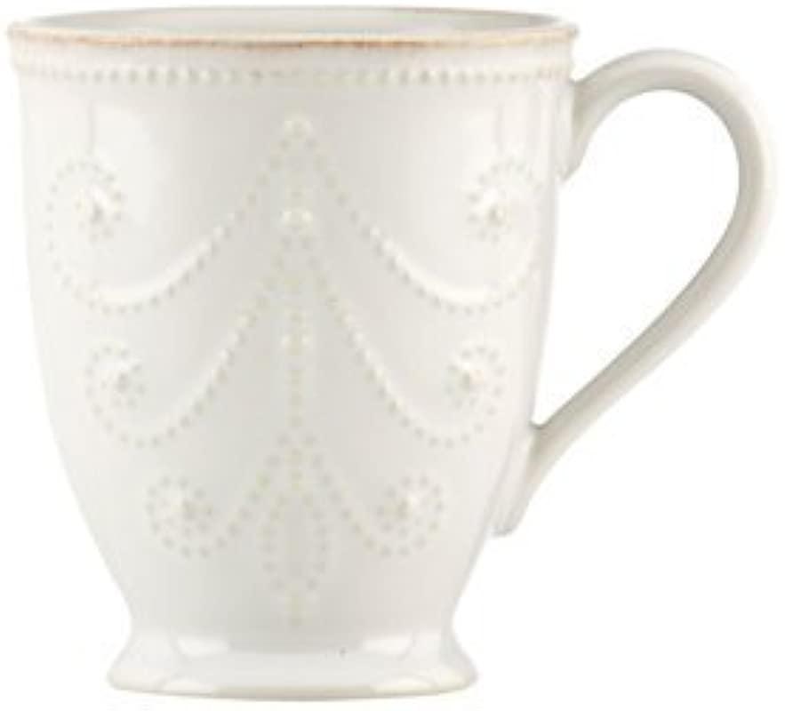 French Perle 12 Oz Mug Set Of 4 Color White