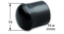 Schutzkappen PVC für 16 mm Stangen-Kicker Kickertisch16 mm ø, 8 Stück