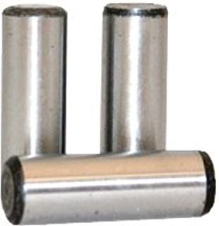 1//8 x 1//2 Dowel Pin Hardened and Ground Alloy Steel Bright Finish Pk 100