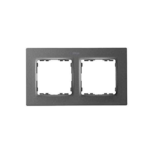Marco para 2 elementos, serie 82 Concept, 1 x 12,5 x 8 centímetros, color titanio (referencia: 8200627-096)