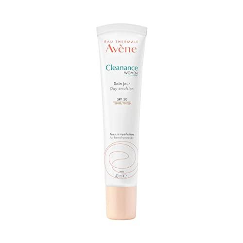 Avene Cleanance Women   Crema De Día Con Color   Imperfecciones   Spf30, Blanco, 40 Mililitro